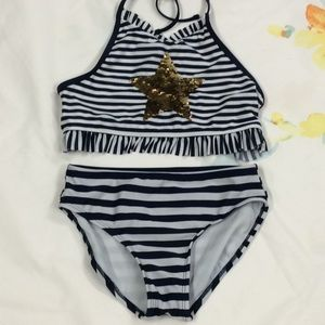 Cat and Jack 2 piece girls swimsuit